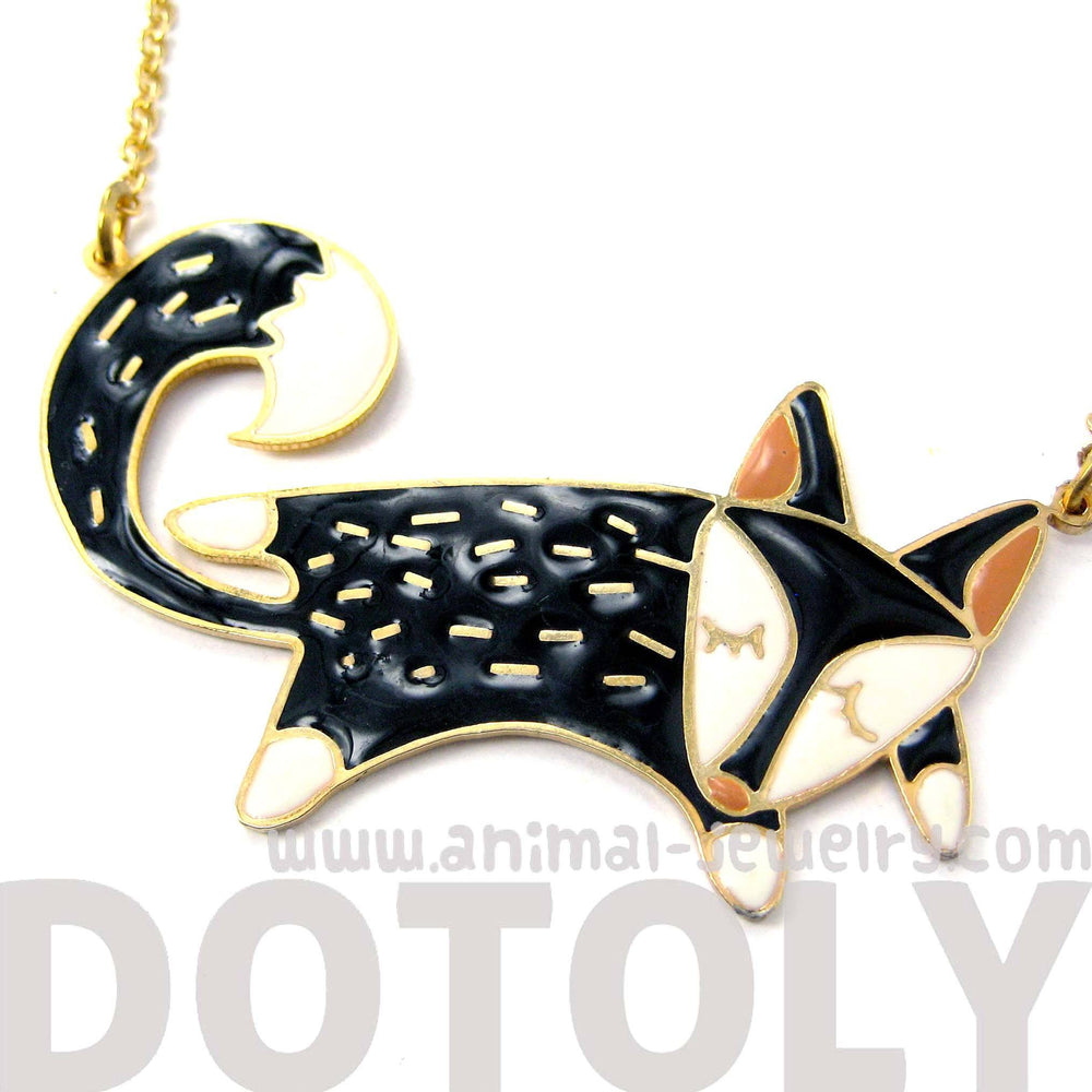 Handmade Adorable Fox Wolf Shaped Animal Pendant Necklace | Limited Edition | DOTOLY