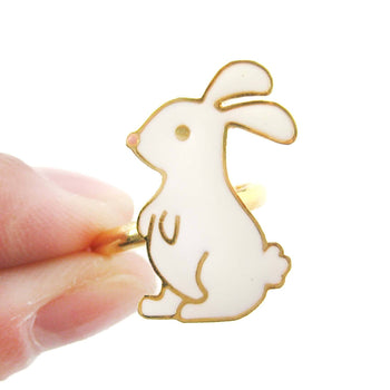 Handmade Bunny Rabbit Shaped Animal Themed Adjustable Ring | Limited Edition | DOTOLY