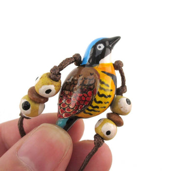 Handmade Gurney's Pitta Bird Shaped Hand Painted Whistle Pendant Necklace | DOTOLY | DOTOLY