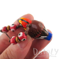 Handmade Malayan Banded Pitta Bird Shaped Hand Painted Whistle Pendant Necklace | DOTOLY | DOTOLY