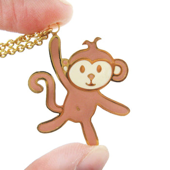 Handmade Monkey Shaped Animal Pendant Necklace | Limited Edition | DOTOLY