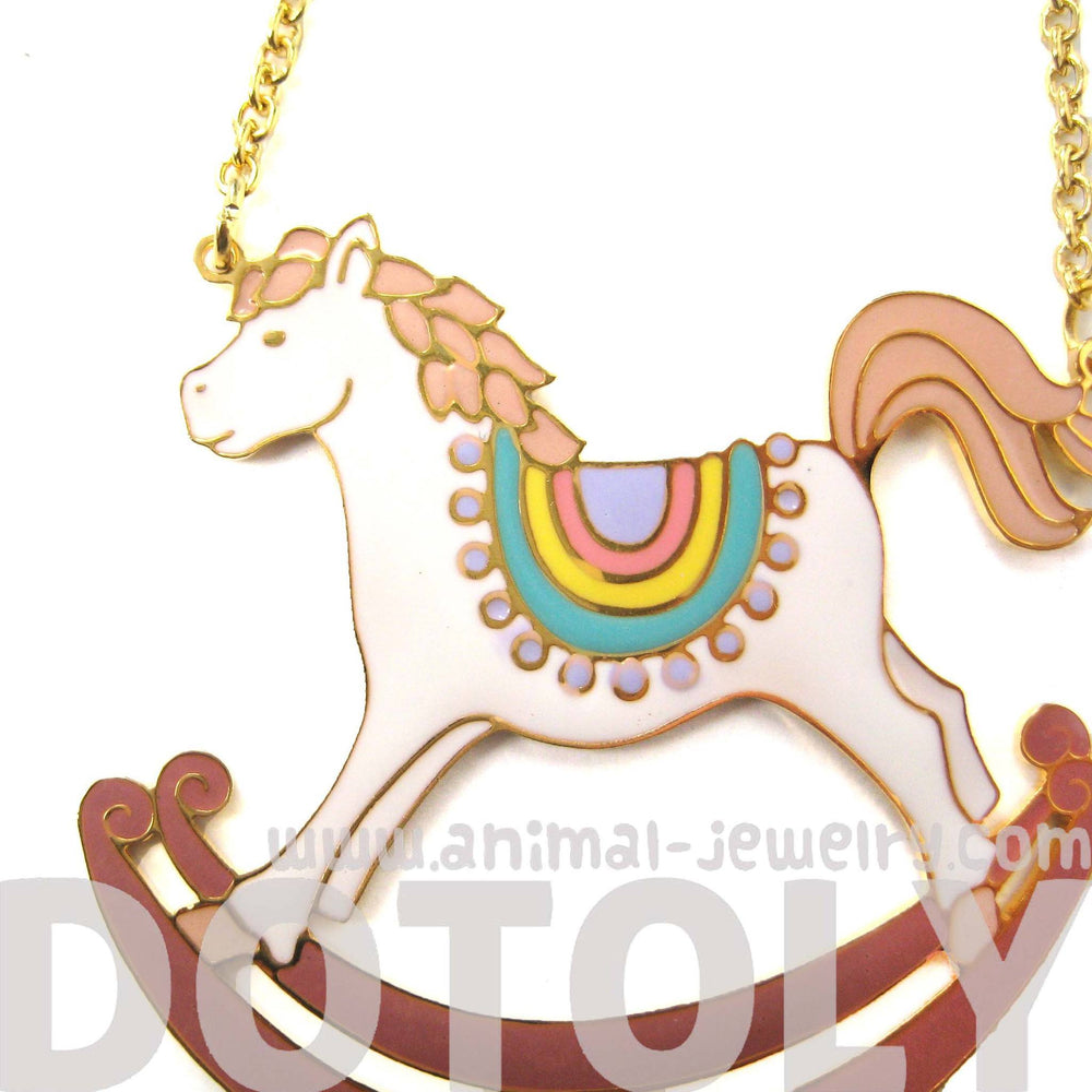 Handmade Rocking Horse Pony Shaped Animal Pendant Necklace | Limited Edition | DOTOLY