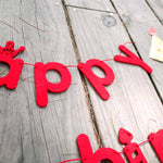 Happy Birthday DIY Letter Felt Garland Banner Flag | Photo Booth Prop | DOTOLY