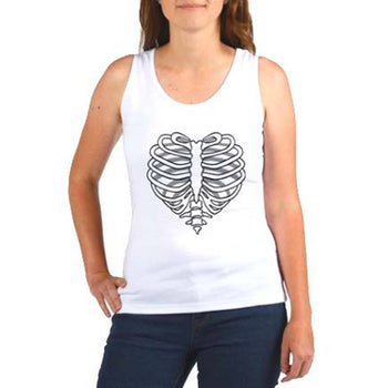 Heart Shaped Rib Cage Graphic Tee Vest in White | DOTOLY | DOTOLY