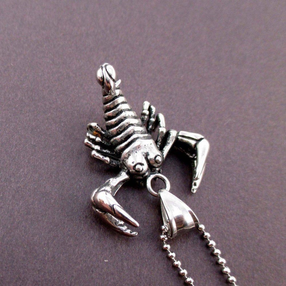 Insect Themed Spider and Stag Beetle Ring and Scorpion Necklace Set