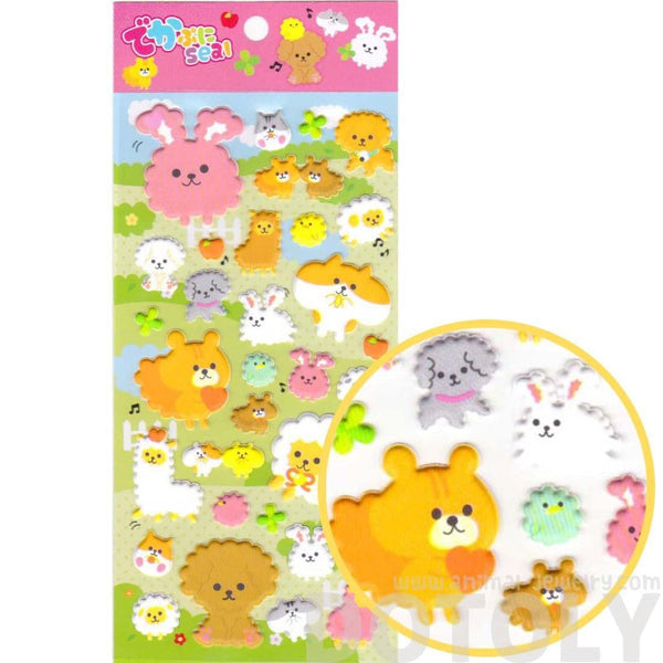 Kawaii Bunny Rabbit Sheep Alpaca Dog Animal Shaped Stickers for Scrapbooking | DOTOLY