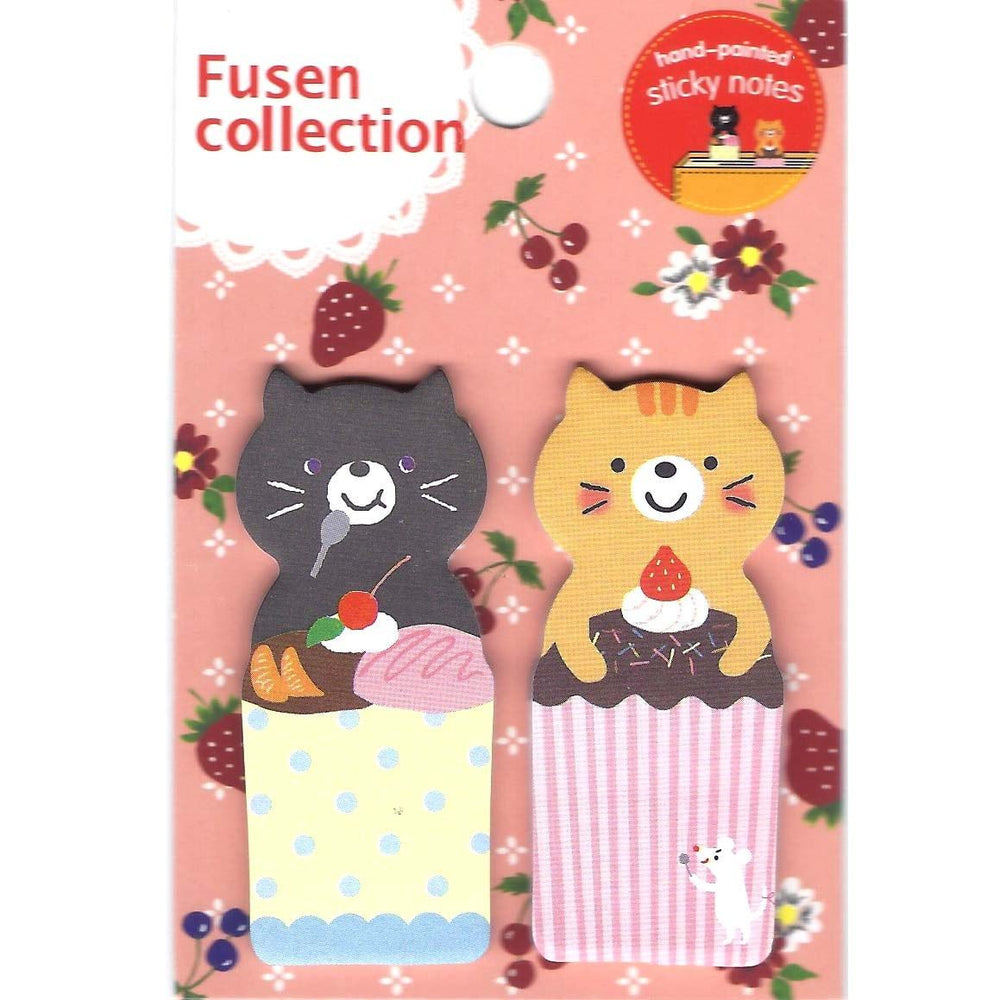 Kitty Cat and Desserts Shaped Animal Memo Post-it Adhesive Bookmark Tabs | DOTOLY