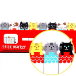 Kitty Cat Illustrated Animal Themed Memo Post-it Index Tab Sticky Bookmarks | DOTOLY