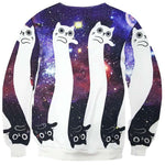Kitty Cat Optical Illusion Universe Space Print Sweatshirt | Gifts for Animal Lovers | DOTOLY