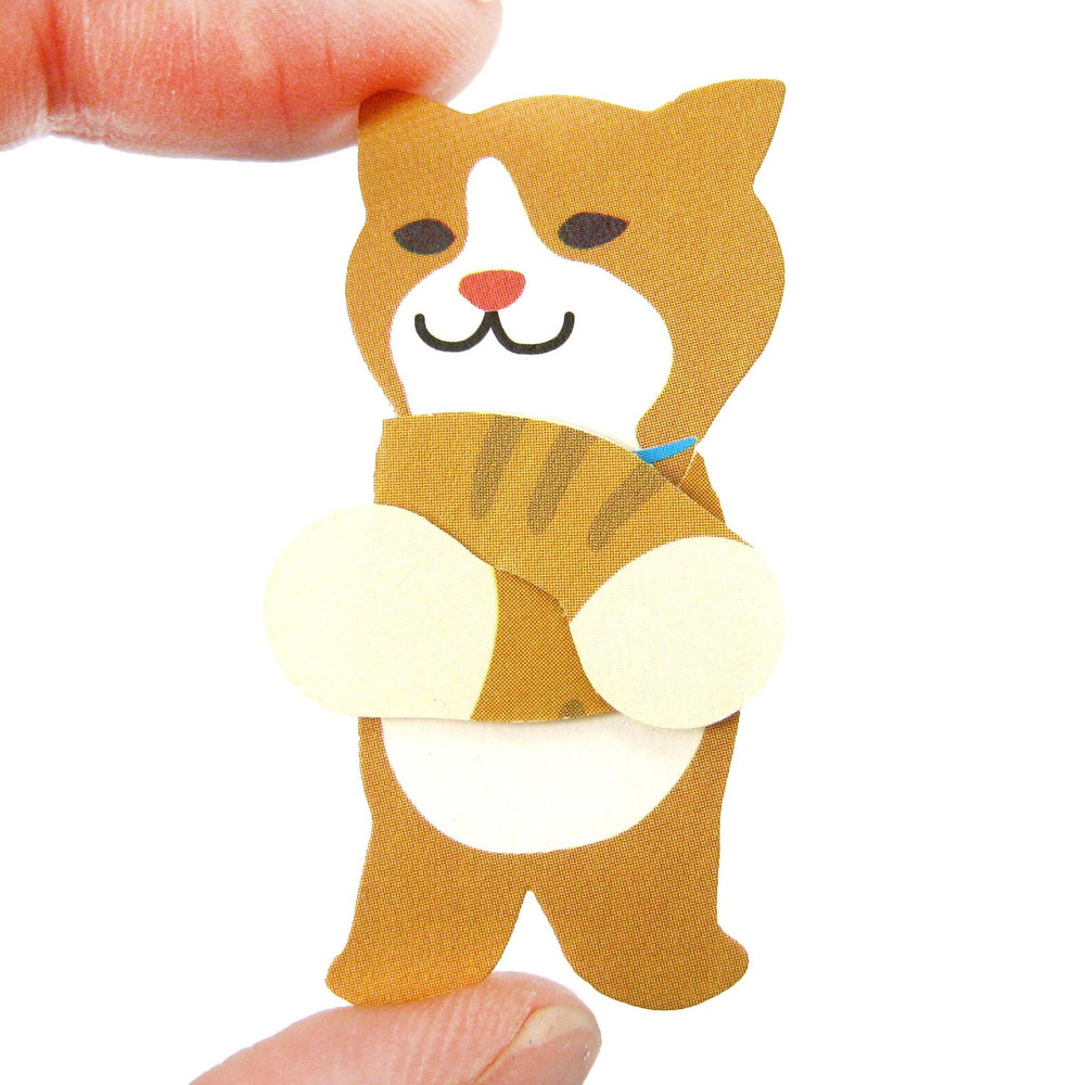Kitty Cat Shaped Mini Animal Hug Gift Tag Card Set | DOTOLY | DOTOLY