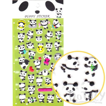 Kung Fu Panda Bears Shaped Animal Themed Puffy Stickers for Kids | DOTOLY