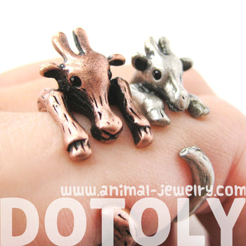Large Giraffe Animal Wrap Around Ring in Copper - Sizes 4 to 9 Available | DOTOLY