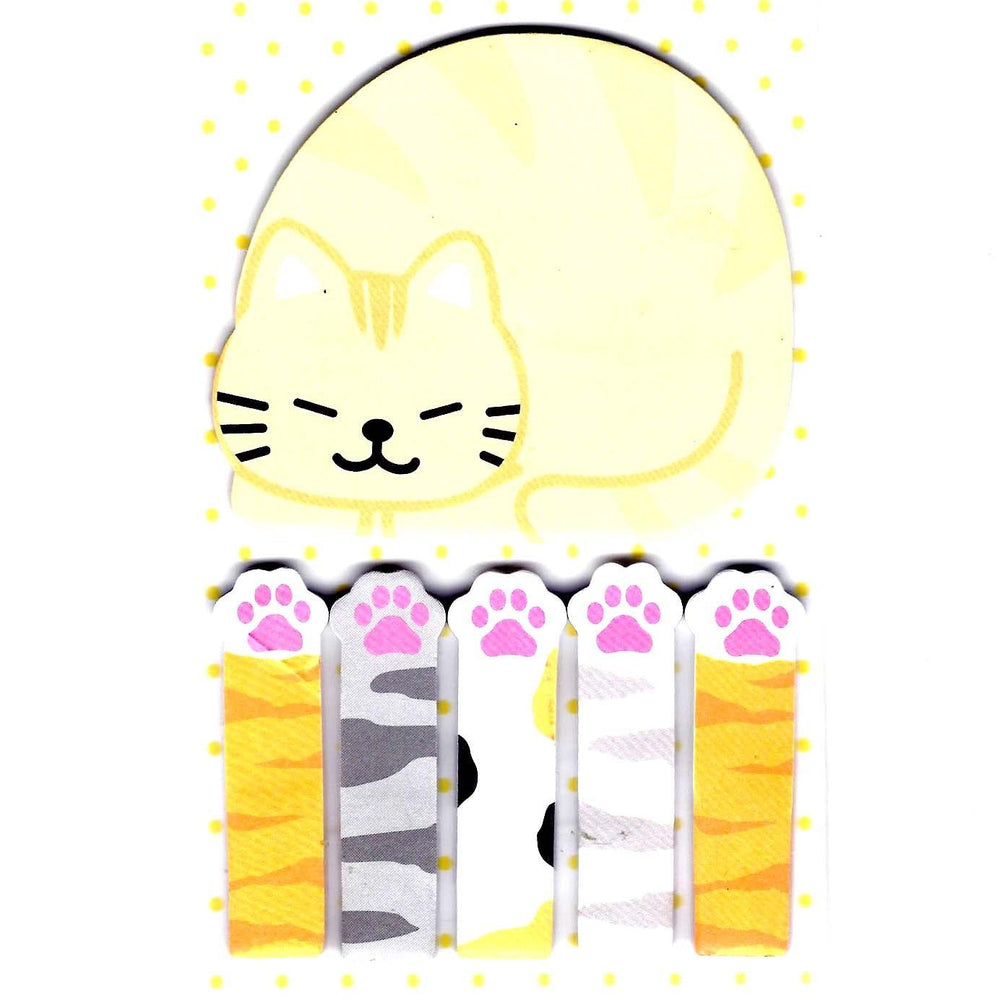 Large Kitty Cat Paw Shaped Animal Themed Memo Post-it Index Sticky Pad Bookmark Tabs | DOTOLY
