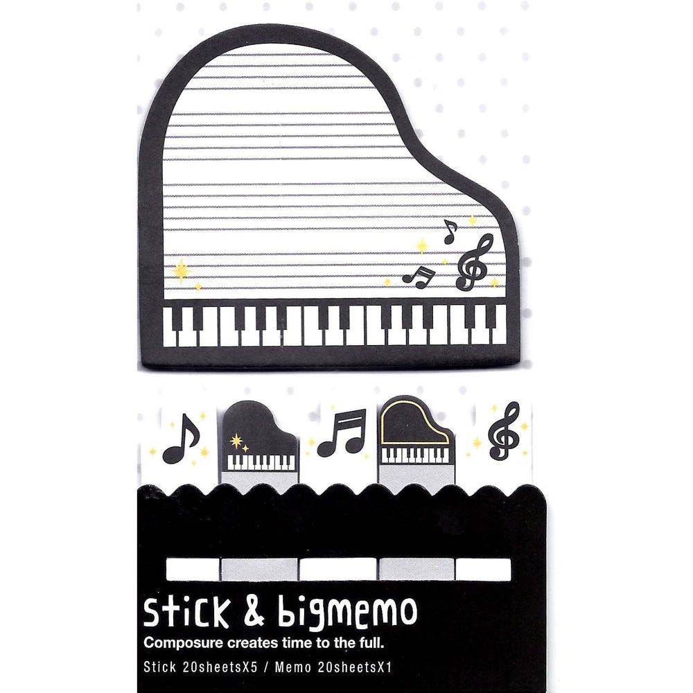 Large Music Themed Piano Treble Clef Notes Memo Pad Post-it Index Sticky Bookmark Tabs | DOTOLY