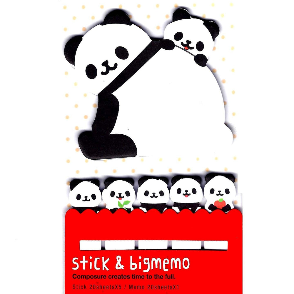 Large Panda Bear Shaped Animal Themed Memo Post-it Index Sticky Pad Bookmark Tabs | DOTOLY