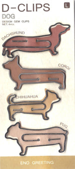 Large Puppy Dog Animal Themed Dachshund Corgi Pug Shaped Paper Clips | DOTOLY
