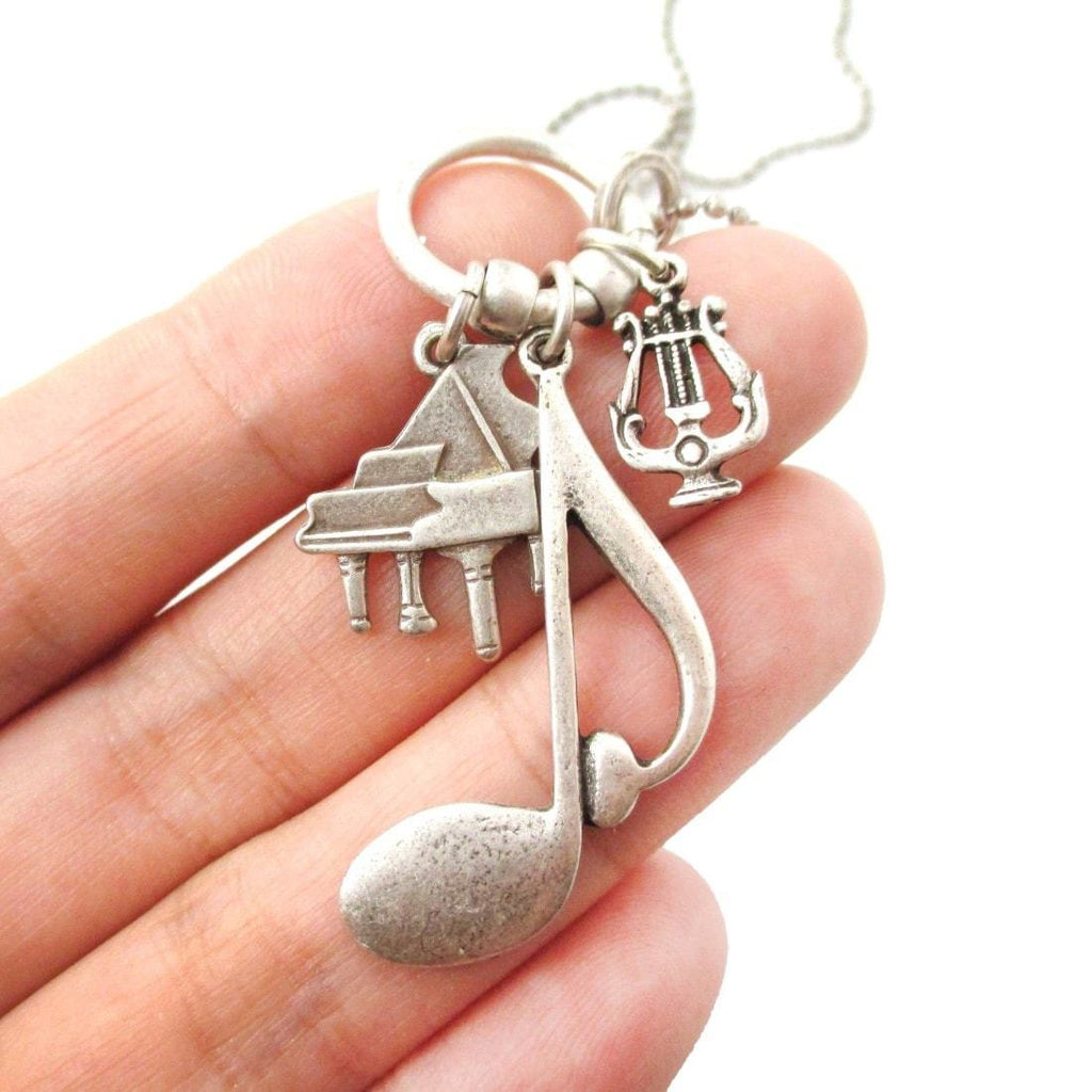 plated musical necklace couple material pearl design wholesale silver stylish layer pendant on product necklaces long note sterling