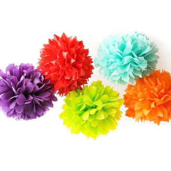 LARGE Sized Tissue Paper Pom Pom | Bridal, Baby Shower, Wedding, Party Nursery Decor | DOTOLY
