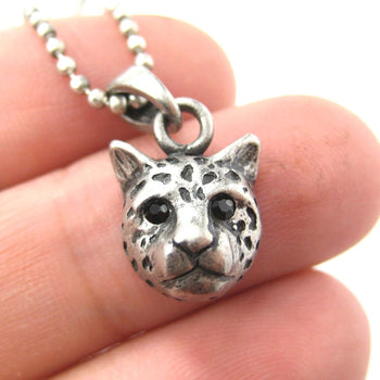 Leopard Cheetah Animal Charm Necklace in Silver | Animal Jewelry | DOTOLY