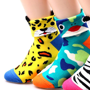 Leopard Shaped Cute Animal Short Cotton Socks for Women | DOTOLY | DOTOLY