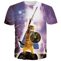 Lighting Tabby Cat Hero Graphic Print Graphic Tee | Gifts for Cat Lovers | DOTOLY