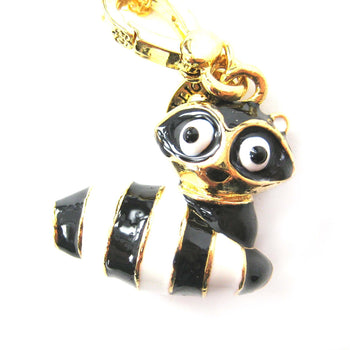Raccoon Lemur Animal Pendant Necklace | Limited Edition Animal Jewelry | DOTOLY
