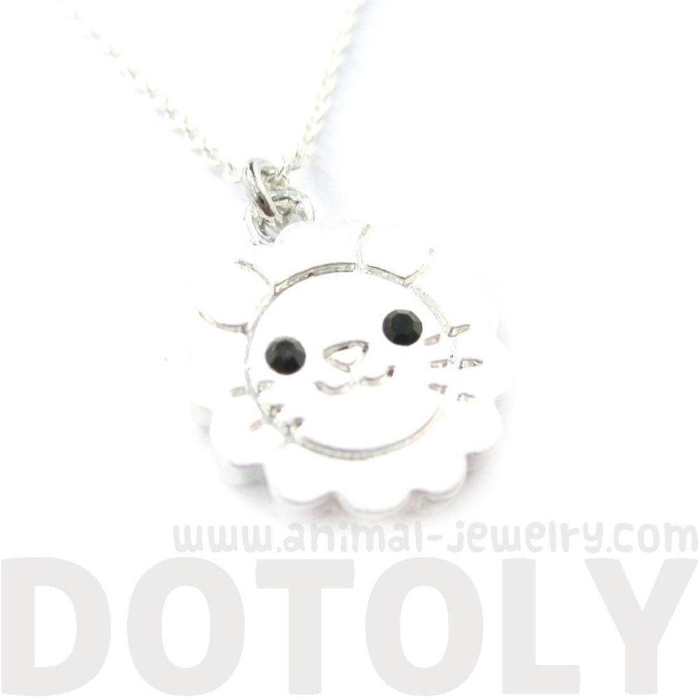Lion Shaped Adorable Animal Inspired Pendant Necklace in Silver | DOTOLY | DOTOLY