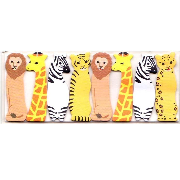 Lion Zebra Giraffe Tiger Shaped Safari Animals Themed Memo Post-it Index Sticky Tabs | DOTOLY