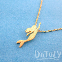 Little Mermaid Silhouette Shaped Pendant Necklace in Gold | DOTOLY | DOTOLY