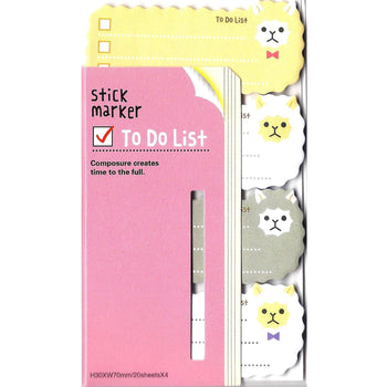 Llamma Alpaca Sheep Shaped Animal Themed Memo Post-it Sticky Note Pad | DOTOLY