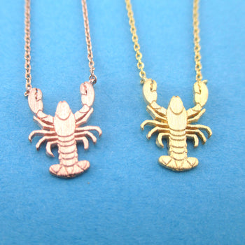 Lobster Shaped Marine Life Themed Pendant Necklace for Animal Lovers