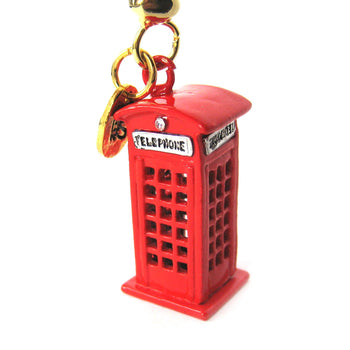 London Red Telephone Box Pendant Necklace | Limited Edition Jewelry | DOTOLY