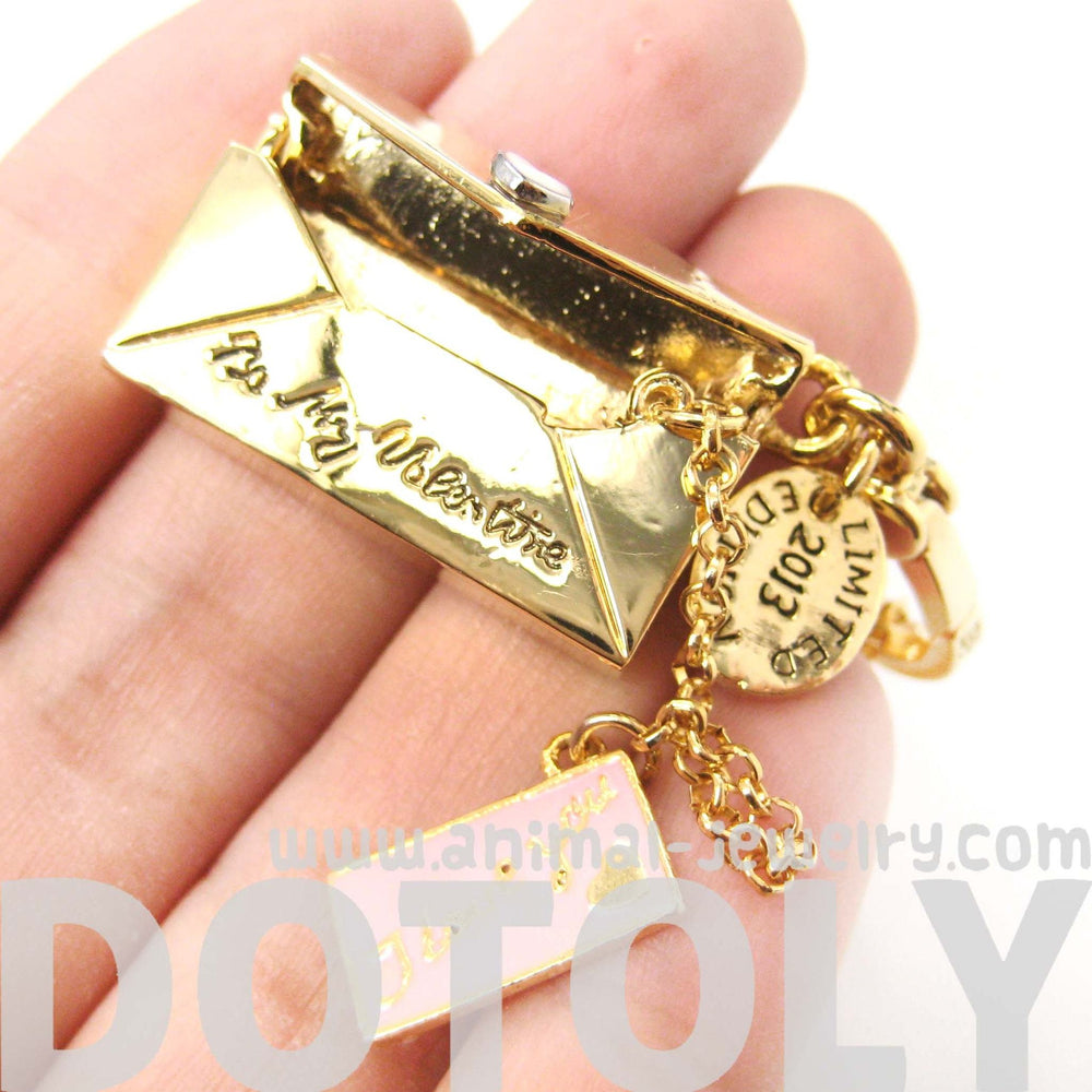 Love Notes Letter Envelope Shaped Pendant Necklace | Limited Edition | DOTOLY