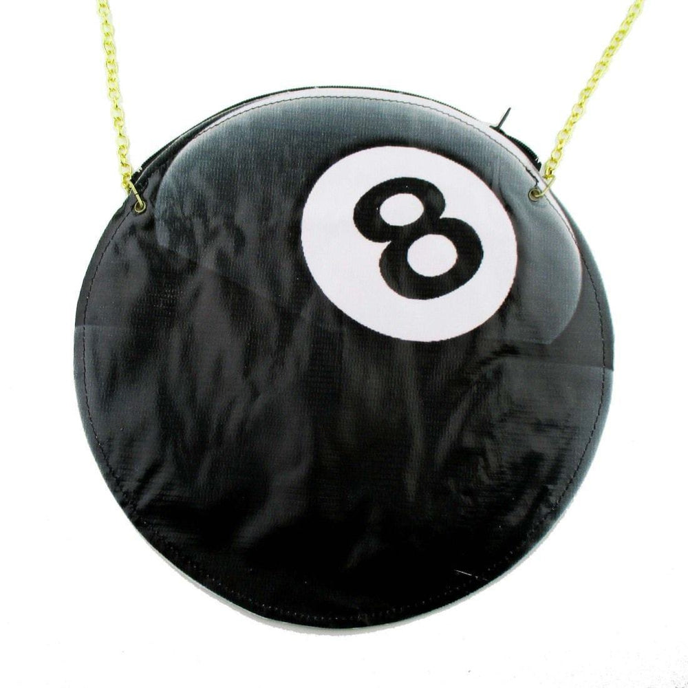 Magic Eight Ball Pool Shaped Vinyl Cross Body Bag | DOTOLY | DOTOLY