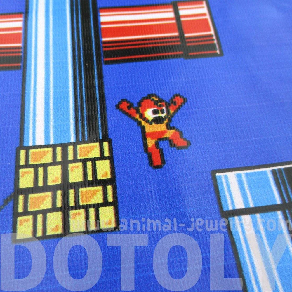 Mega Man Rockman Capcom 8-Bit Game Print Rectangular Shaped Cross Body Bag | DOTOLY