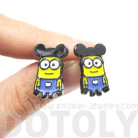 Mickey Mouse Minions From Despicable Me Stud Earrings | DOTOLY | DOTOLY