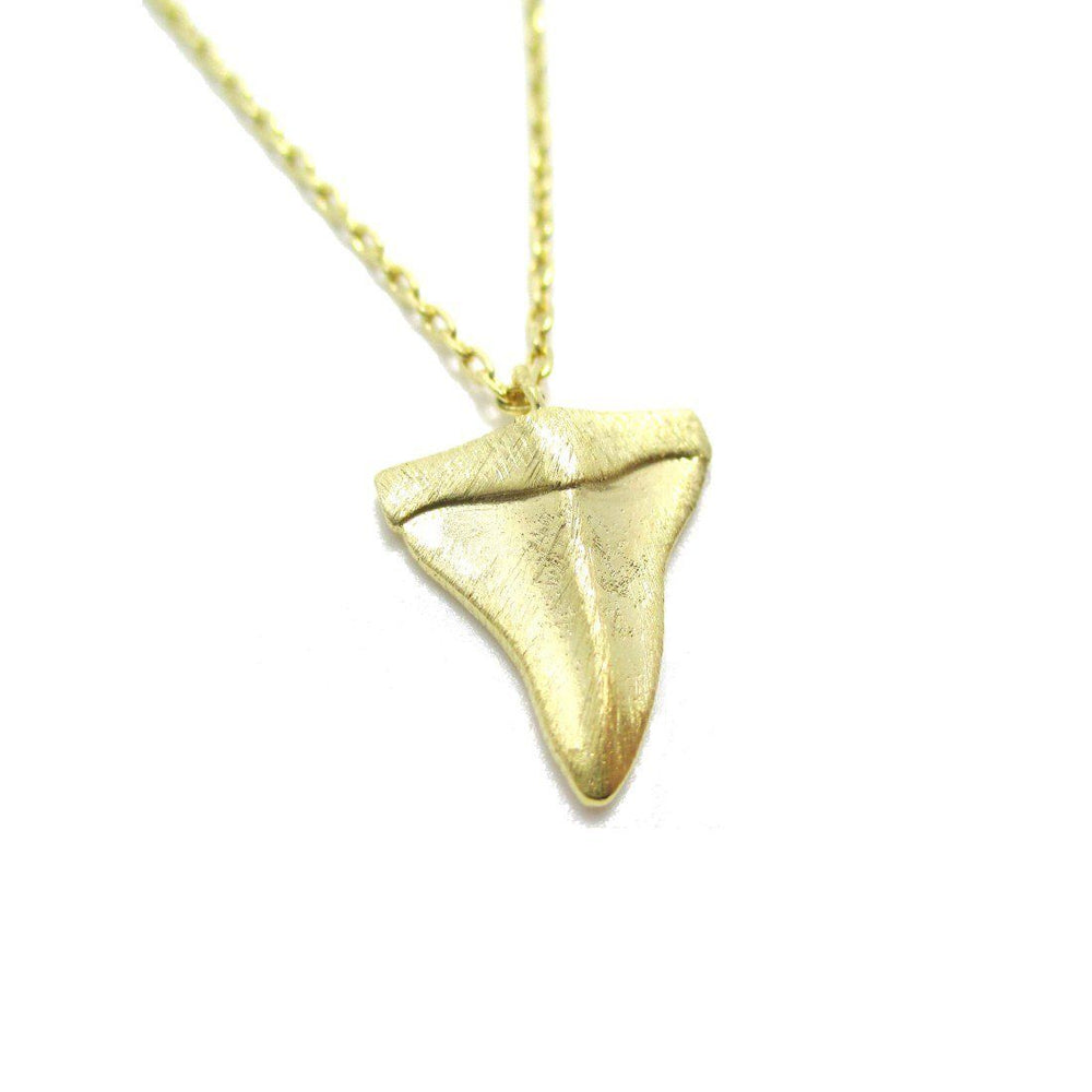 Mini Shark Tooth Boho Pendant Necklace in Gold | Animal Jewelry