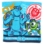 Monsters University Inc Mike and Sullivan Print Square Face Towel Handkerchief in Blue | DOTOLY