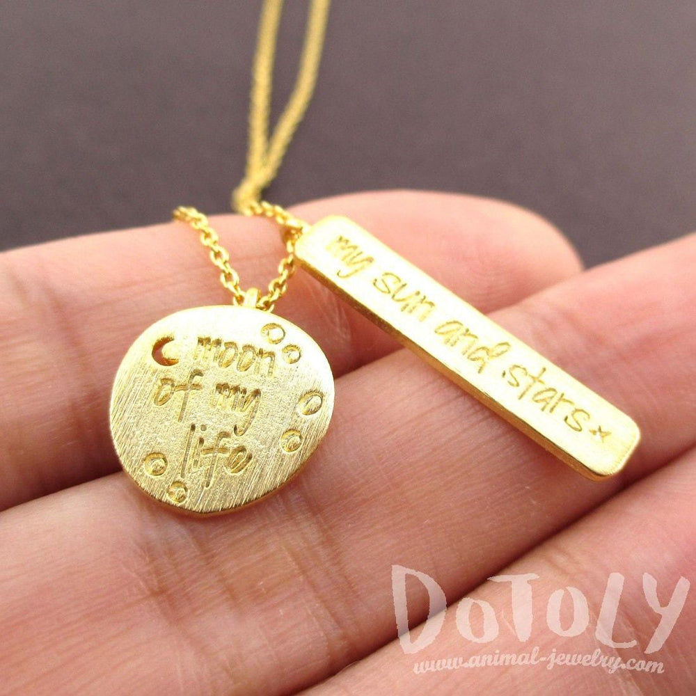 Moon Of My Life My Sun Stars Game Of Thrones Quote Necklace In