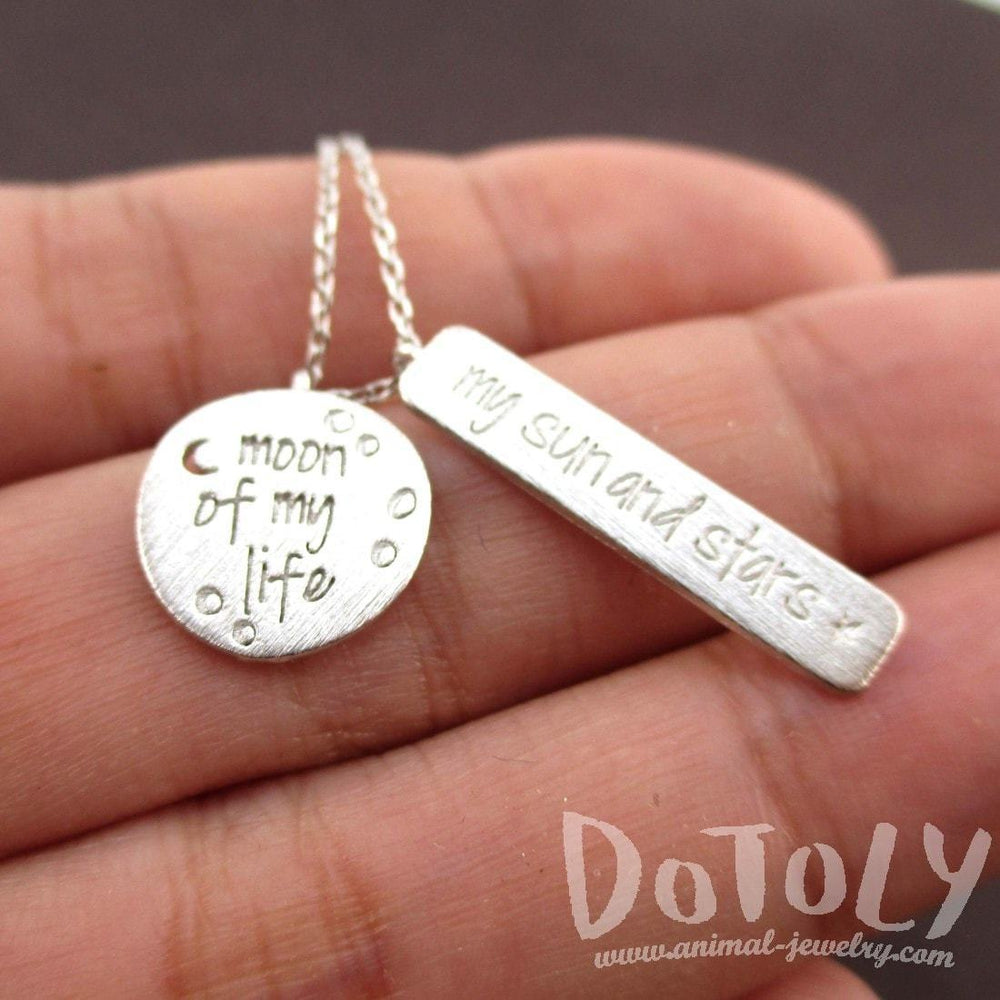 Moon Of My Life My Sun And Stars Game Of Thrones Necklace In Silver