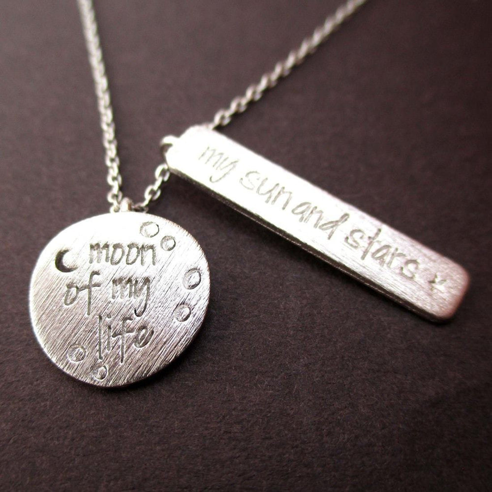 Moon Of My Life My Sun And Stars Game Of Thrones Necklace In Silver Dotoly