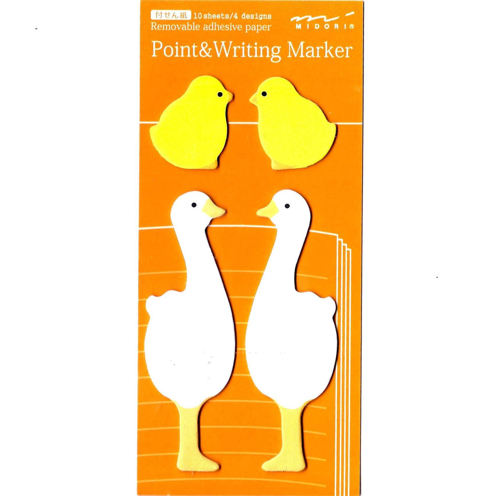 Mother and Baby Duck Bird Shaped Animal Memo Post-it Adhesive Bookmark Tabs | DOTOLY