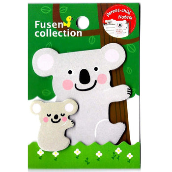 Mother and Baby Koala Bear Shaped Animal Themed Memo Pad Post-it Sticky Note Pad | DOTOLY