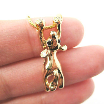 Mouse Dangling Off The Edge Pendant Necklace in Gold | Animal Jewelry | DOTOLY