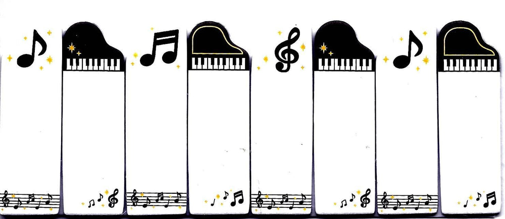 Music Themed Piano Notes Treble Clef Memo Post-it Index Tab Sticky Bookmarks | DOTOLY