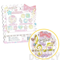 Music Themed Treble Clef Musical Notes Shaped Sticker Flake Seals From Japan | 71 Pieces | DOTOLY