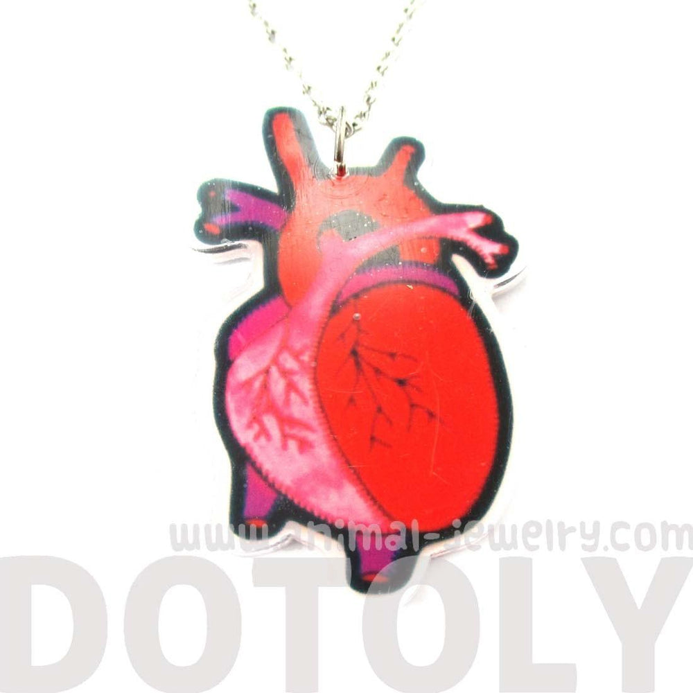 My Heart Belongs To You Human Heart Anatomy Shaped Necklace in Acrylic | DOTOLY | DOTOLY
