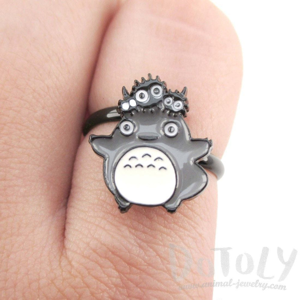 My Neighbor Totoro and Dustbunnies Shaped Adjustable Ring | DOTOLY | DOTOLY