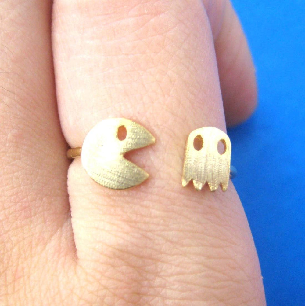 Namco Pac-Man Arcade Themed Adjustable Ring in Gold | DOTOLY | DOTOLY