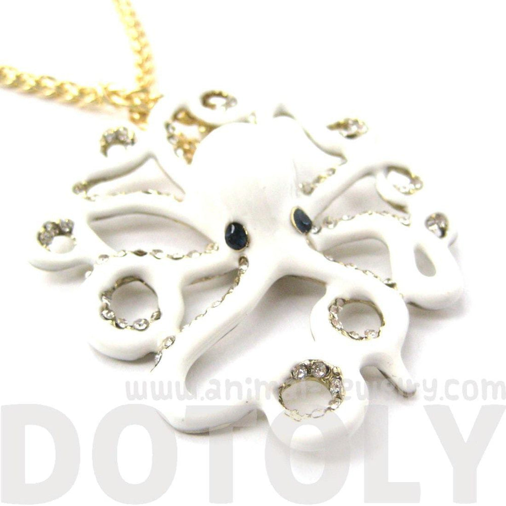 Octopus Shaped Animal Pendant Starfish Charm Necklace in White | DOTOLY | DOTOLY